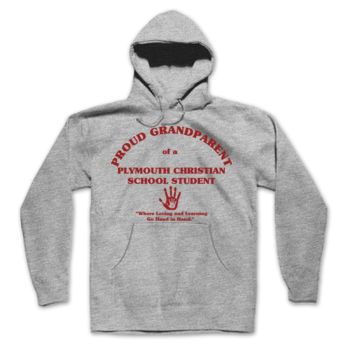 PLYMOUTH - PROUD GRANDPARENT - ADULT - PULLOVER HOODIE - LIGHT GRAY WITH RED Thumbnail