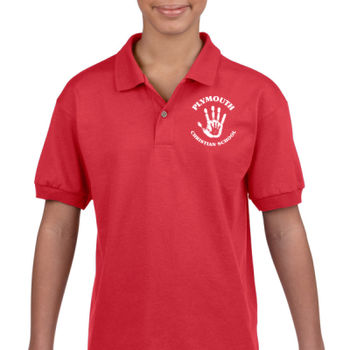 PLYMOUTH - LOGO - YOUTH POLO - RED Thumbnail