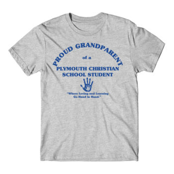 PLYMOUTH - PROUD GRANDPARENT - ADULT - LIGHT GRAY WITH BLUE Thumbnail