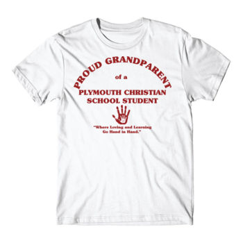 PLYMOUTH - PROUD GRANDPARENT - ADULT - WHITE WITH RED Thumbnail