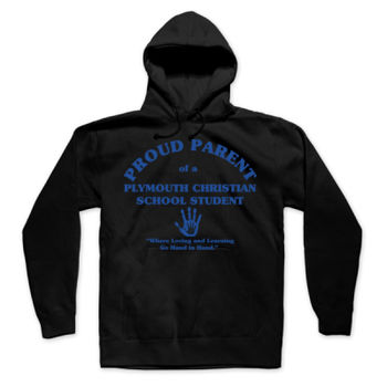 PLYMOUTH - PROUD PARENT - ADULT - PULLOVER HOODIE - BLACK WITH BLUE Thumbnail
