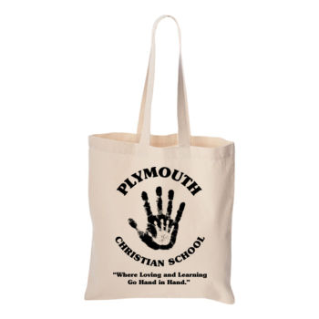 PLYMOUTH - LOGO - TOTE - 14 X 16 - NATURAL Thumbnail